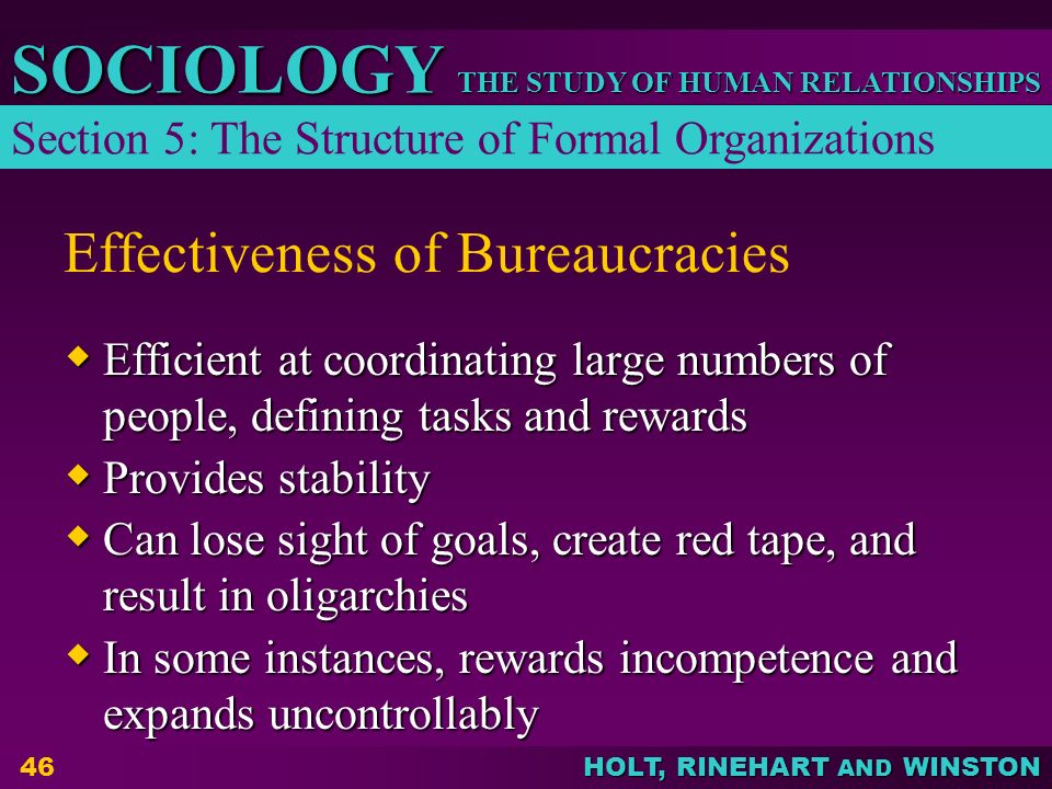Effectiveness of Bureaucracies