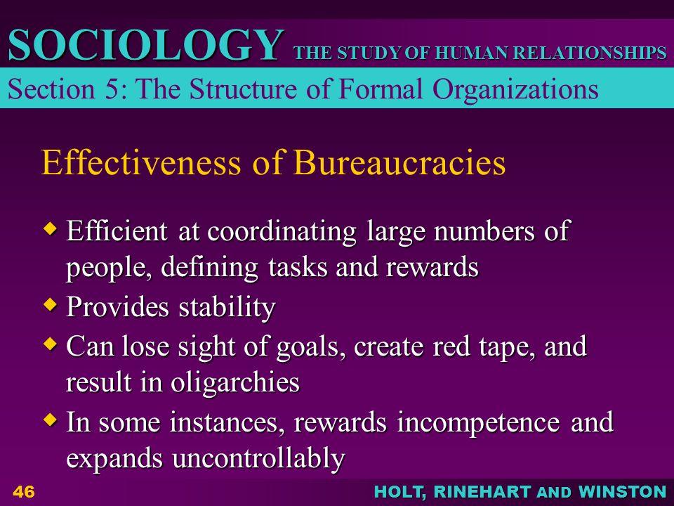 Effectiveness of Bureaucracies