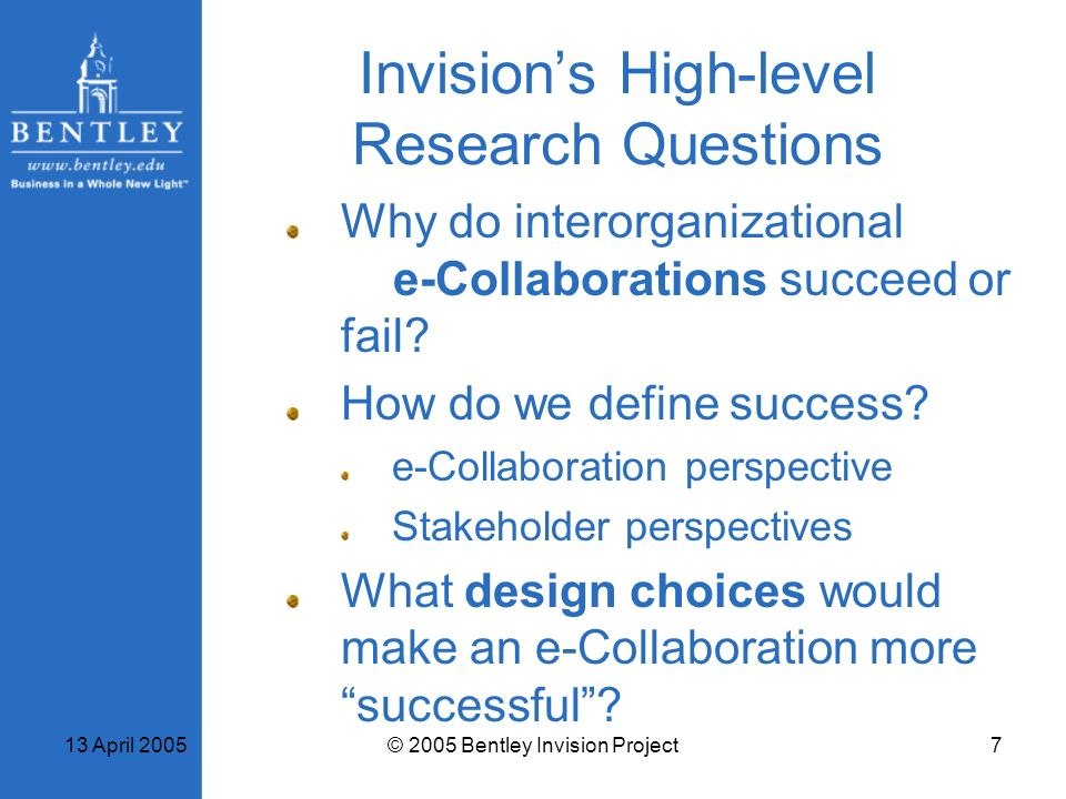Invision's High-level Research Questions