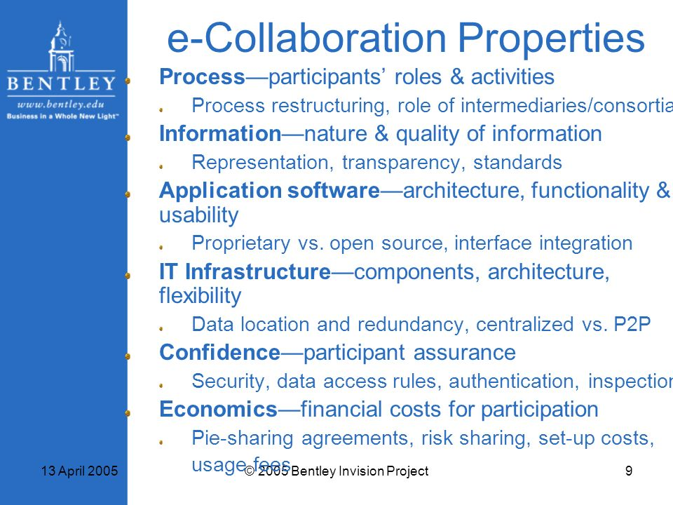 e-Collaboration Properties