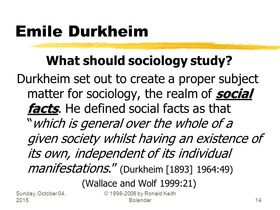 an analysis of emile durkheims sociological theory Emile durkheim (1858-1917) is claimed as the father of sociology by renowned american sociologist talcott parsons his contributions make it clear why he deserves the title emile durkheim was born into the traditional jewish family in the village of epinal in the vosges near strasbourg, france.