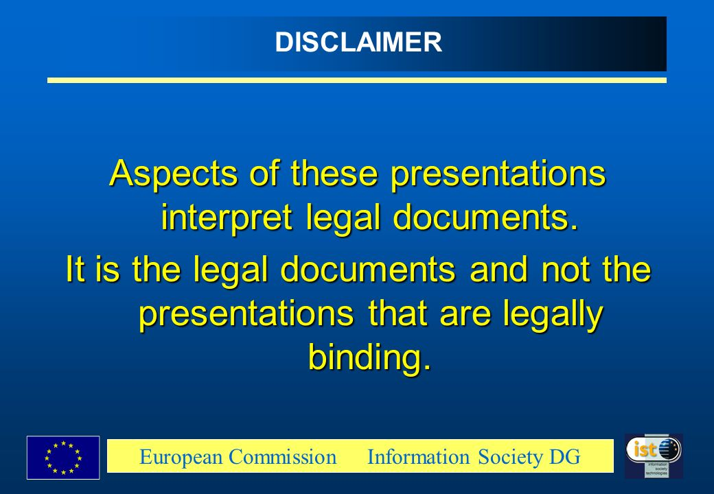 Aspects of these presentations interpret legal documents.