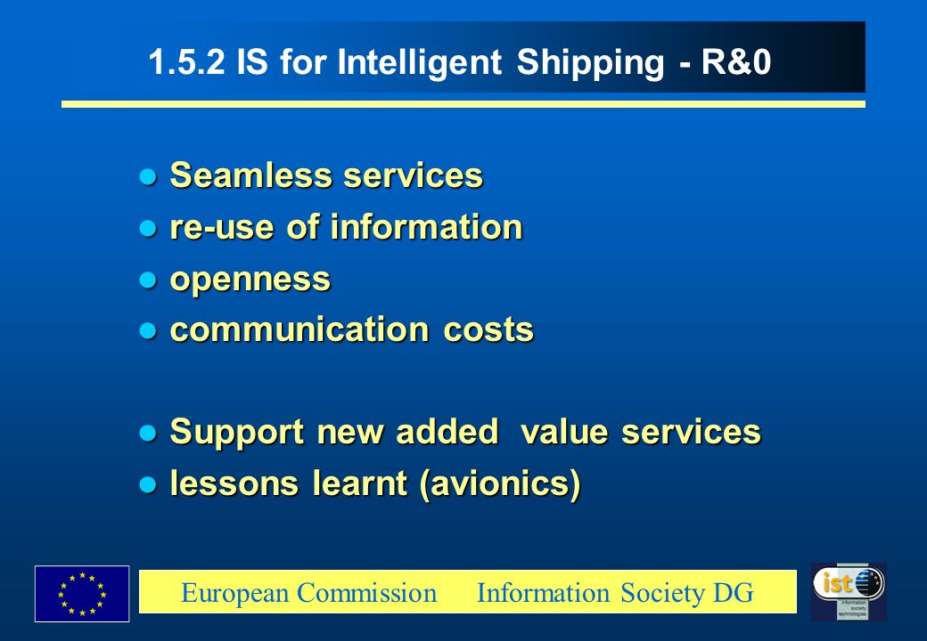 1.5.2 IS for Intelligent Shipping - R&0