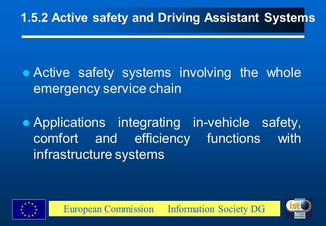 1.5.2 Active safety and Driving Assistant Systems
