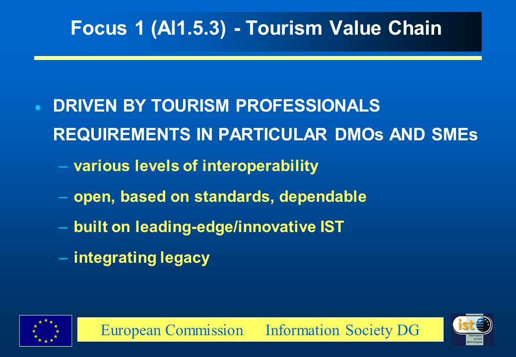 Focus 1 (Al1.5.3) - Tourism Value Chain