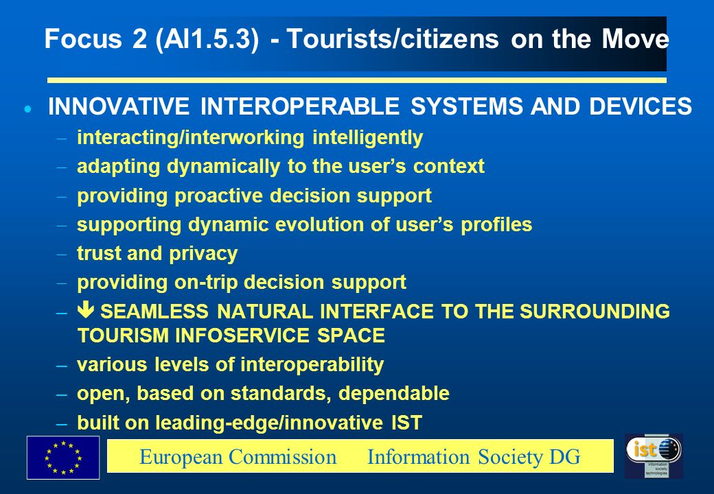 Focus 2 (Al1.5.3) - Tourists/citizens on the Move