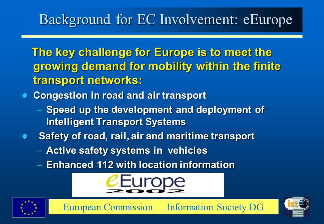 Background for EC Involvement: eEurope