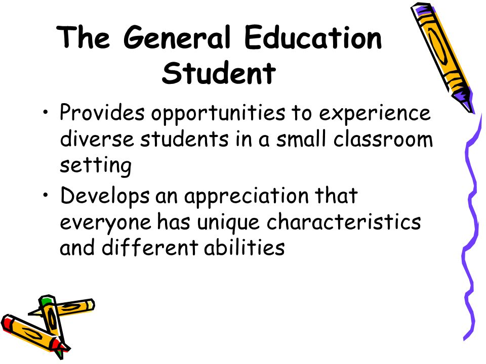 The General Education Student