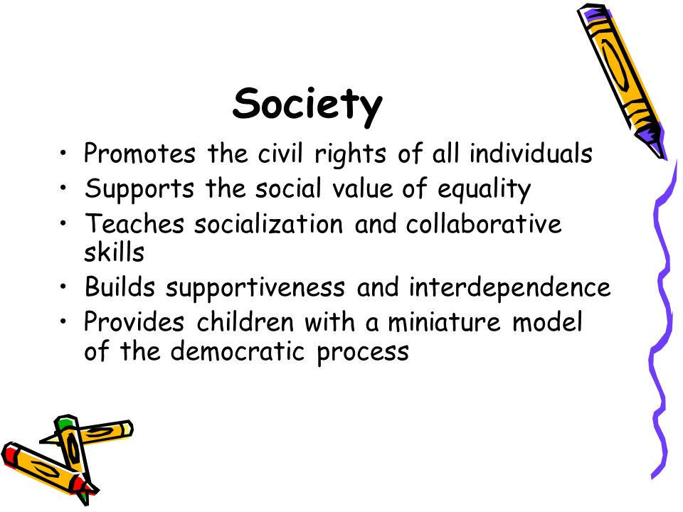 Society Promotes the civil rights of all individuals