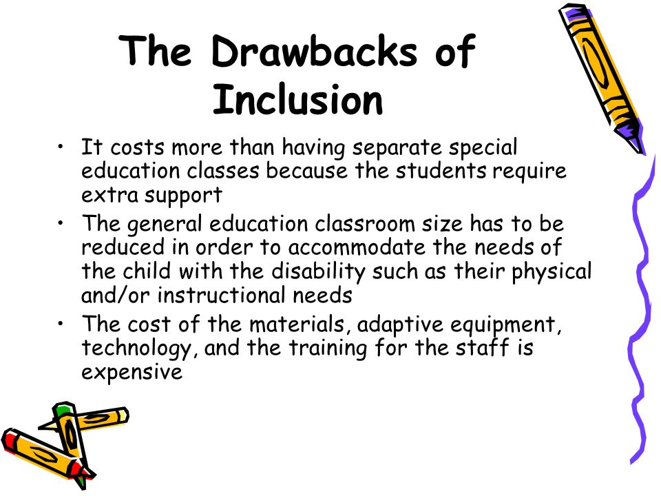 The Drawbacks of Inclusion
