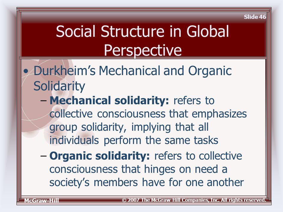durkheims organic and mechanical solidarity essay