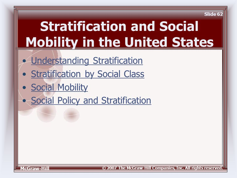 explaining the effect of social stratification on a persons mobility How does ethnic status affect social stratification in chile  of social stratification and mobility deal  for social mobility they show how persons of.