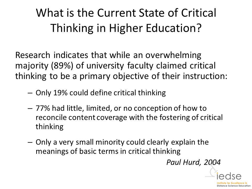 how do you teach critical thinking