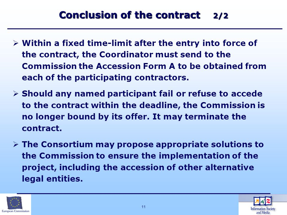 Conclusion of the contract 2/2
