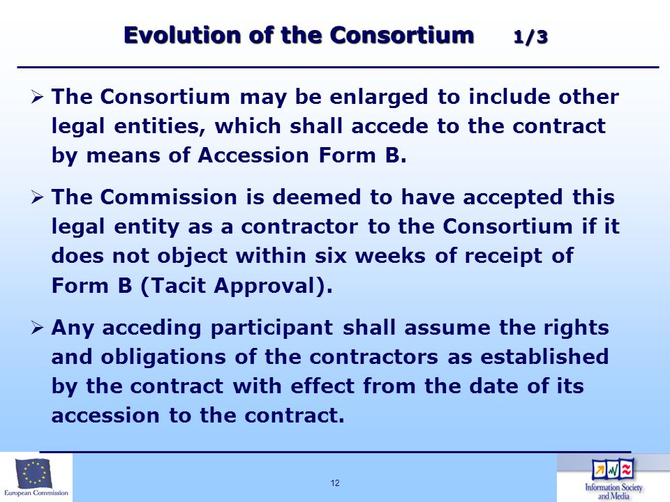 Evolution of the Consortium 1/3