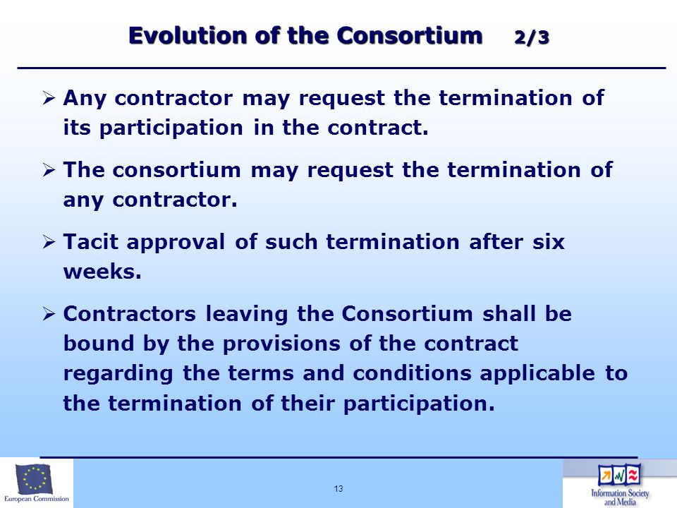 Evolution of the Consortium 2/3
