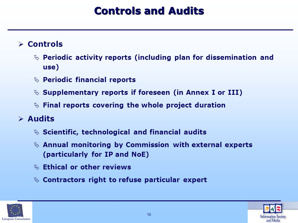 Controls and Audits Controls Audits