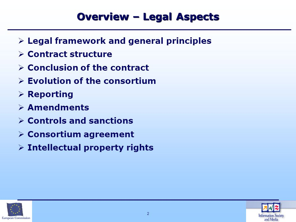 Overview – Legal Aspects