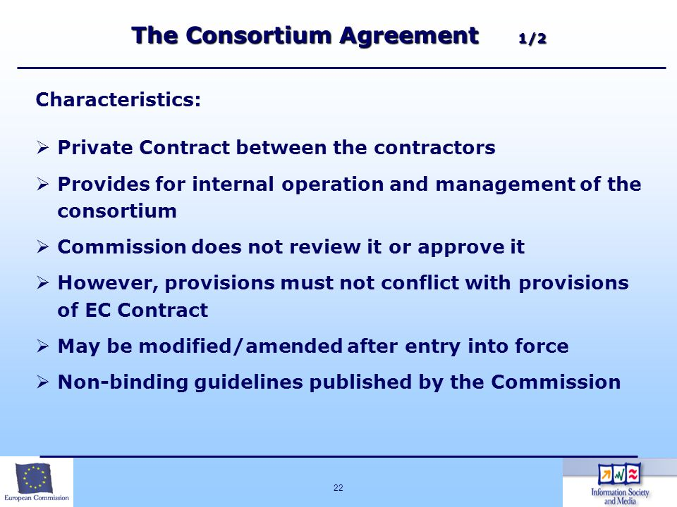 The Consortium Agreement 1/2