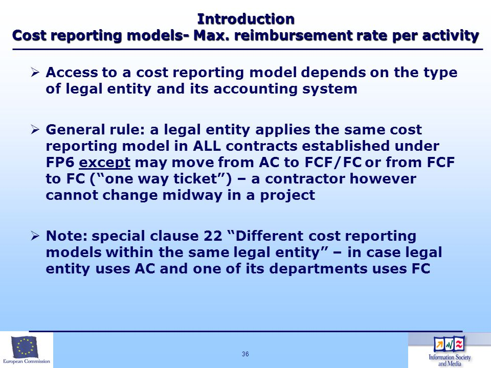 Introduction Cost reporting models- Max