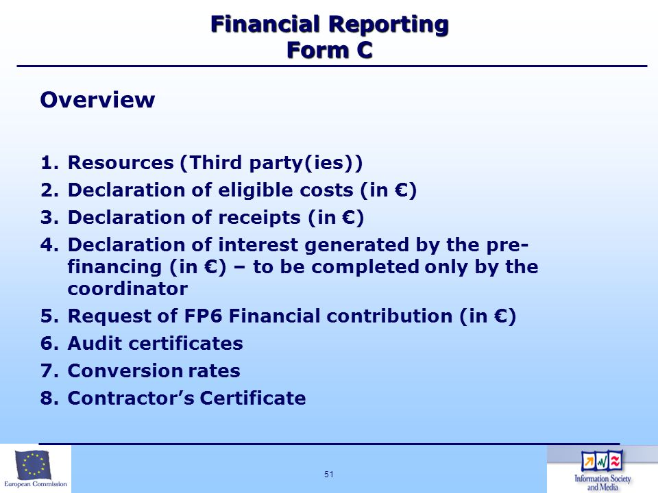 Financial Reporting Form C