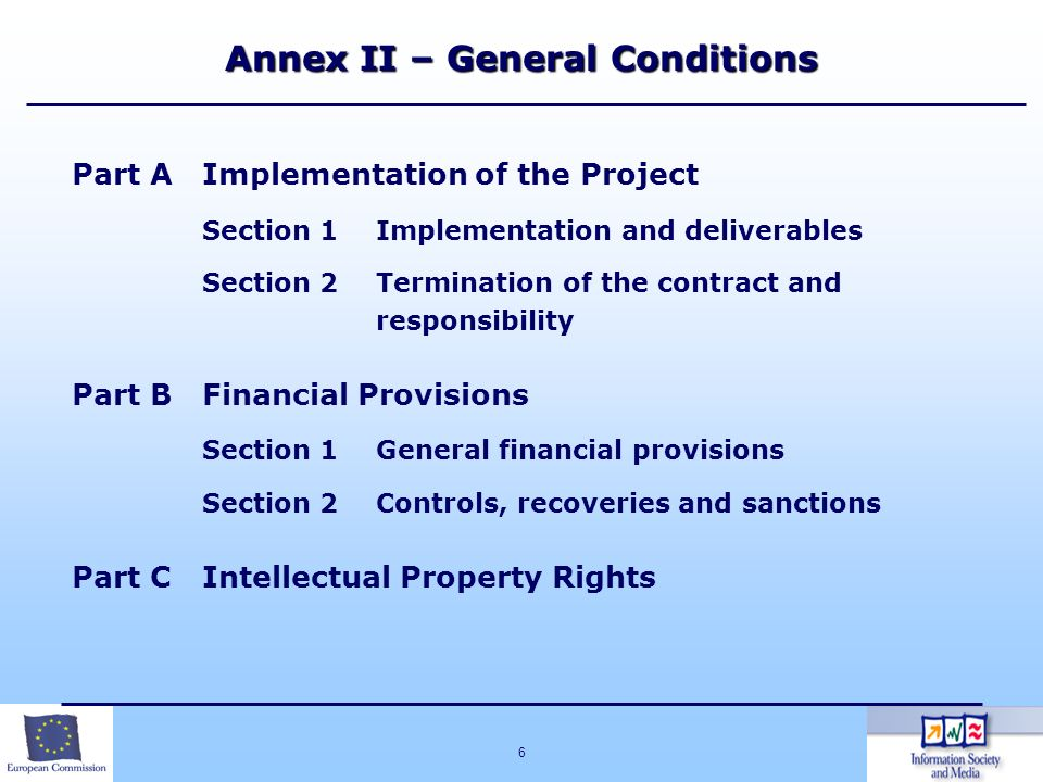 Annex II – General Conditions