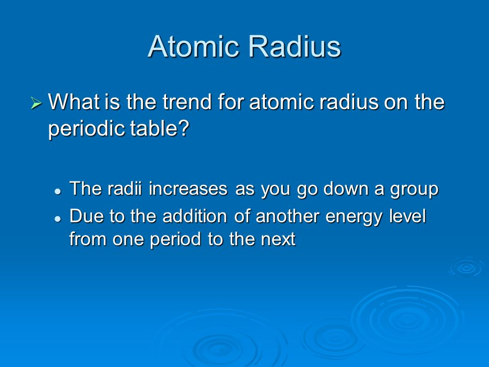 Chapter 4 section 2 and ppt download 6 atomic radius what urtaz Images