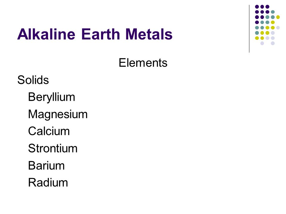 Families on the periodic table ppt video online download 4 alkaline earth urtaz Choice Image