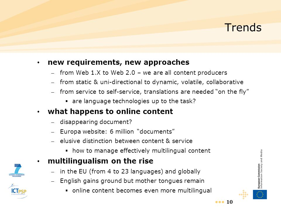 Trends new requirements, new approaches what happens to online content