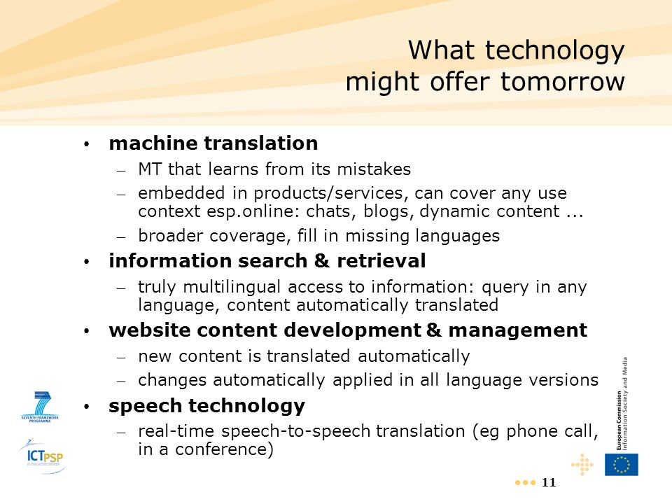 What technology might offer tomorrow