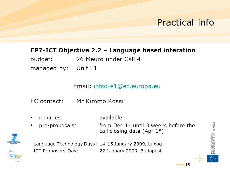 Email: infso-e1@ec.europa.eu