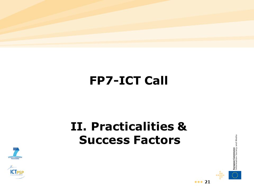 II. Practicalities & Success Factors
