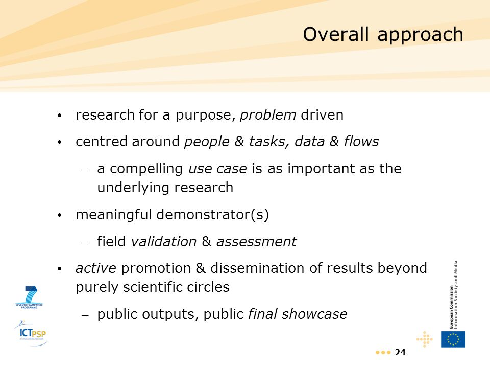 Overall approach research for a purpose, problem driven