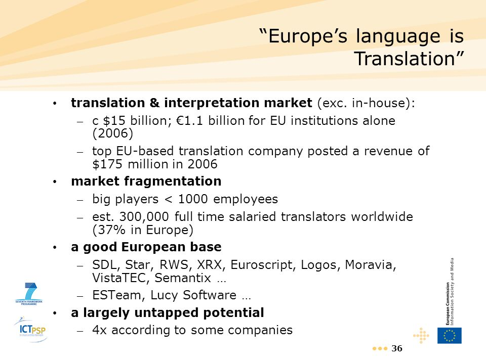 Europe's language is Translation