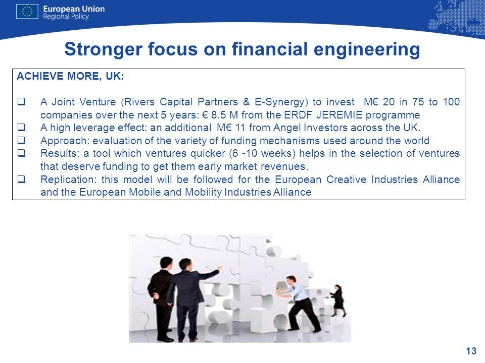 Stronger focus on financial engineering
