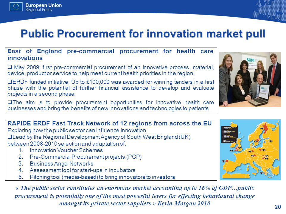 Public Procurement for innovation market pull