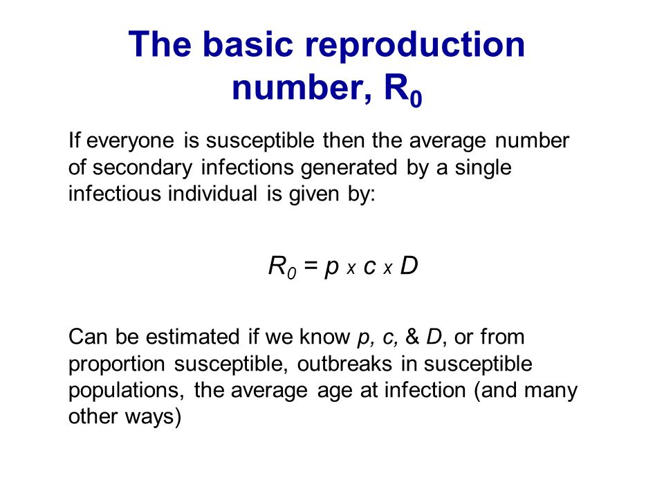 The basic reproduction number, R0