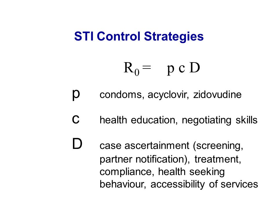 STI Control Strategies
