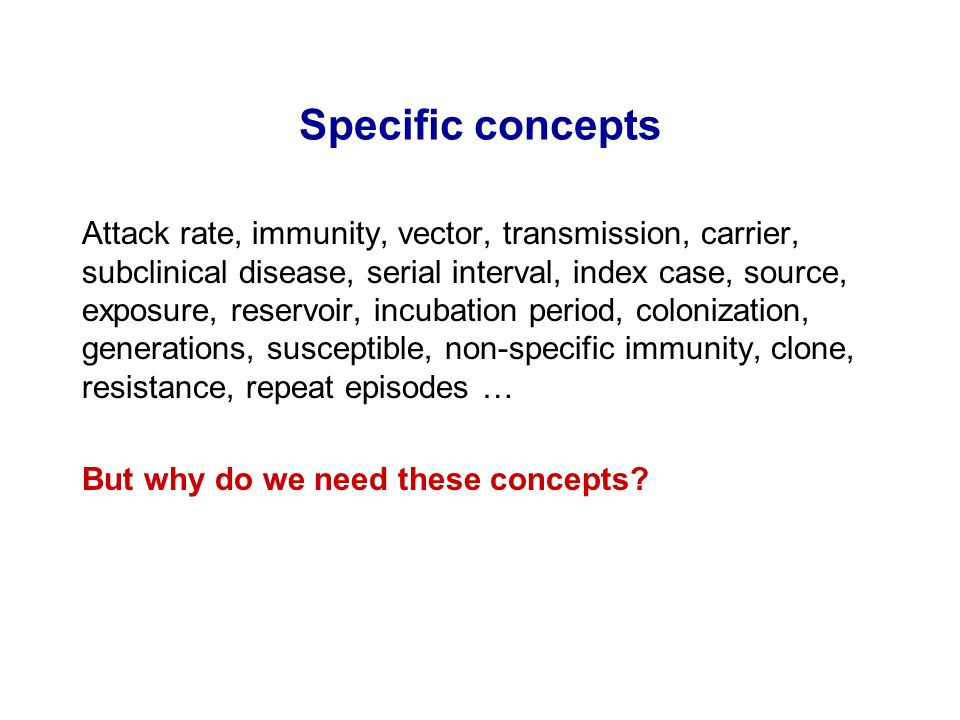 Specific concepts