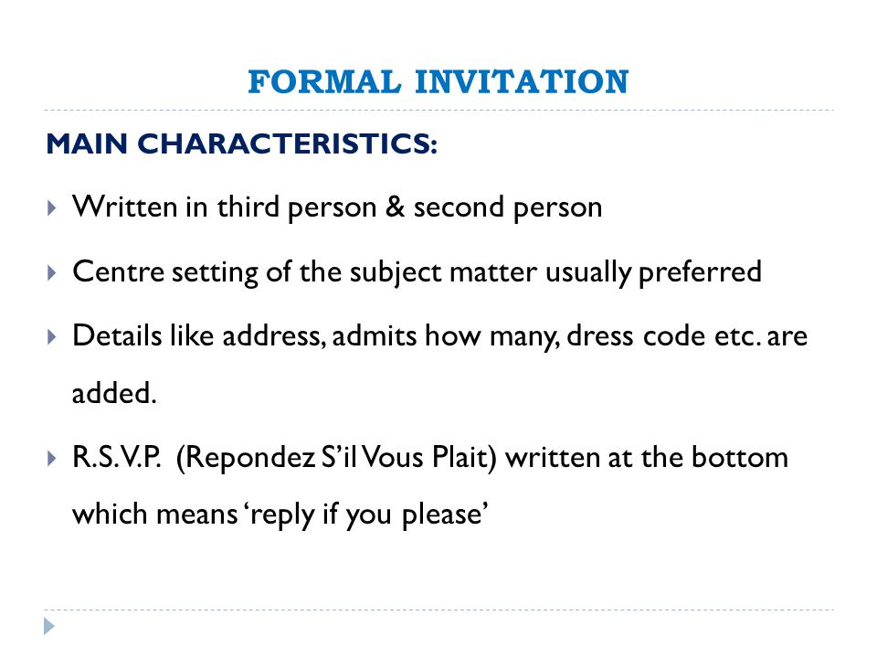 Formal invitation dress code cogimbo party dress code guidelines from purpletrail stopboris Gallery