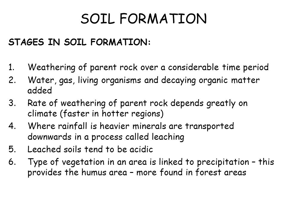 Biosphere soils soil profiles what is a soil what does for Explain the formation of soil