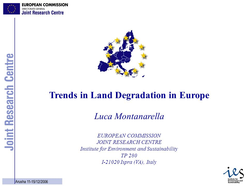 Trends in Land Degradation in Europe