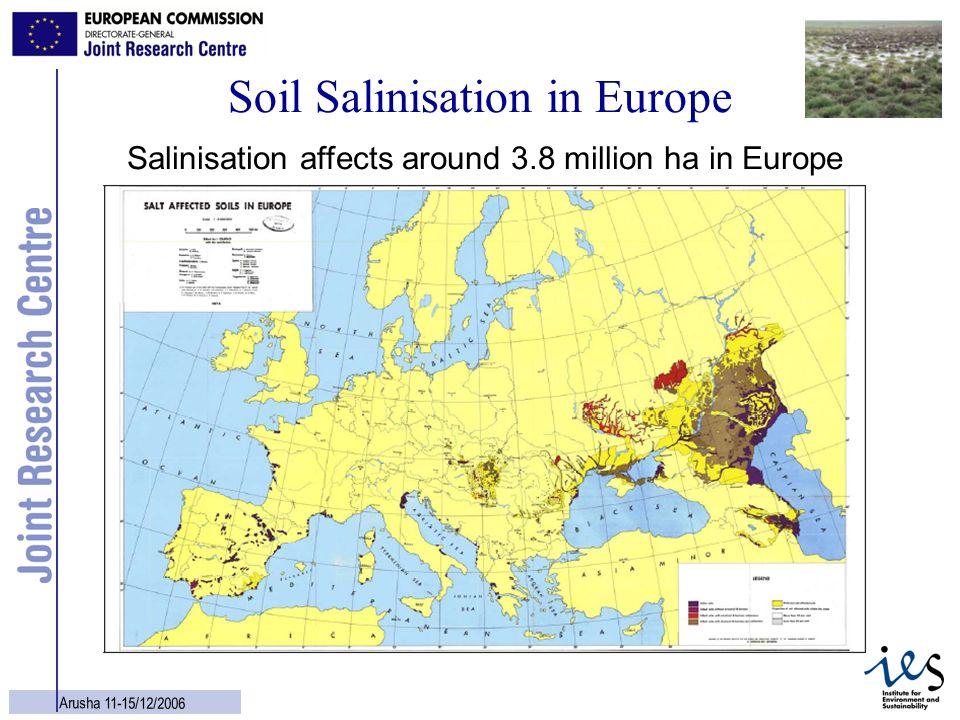 Soil Salinisation in Europe