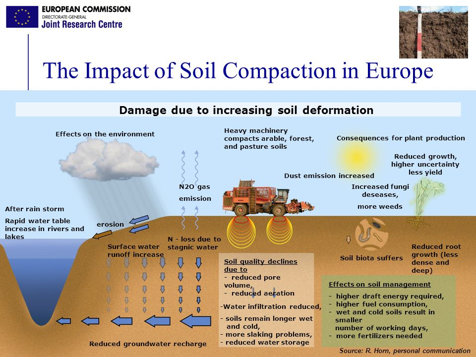The Impact of Soil Compaction in Europe