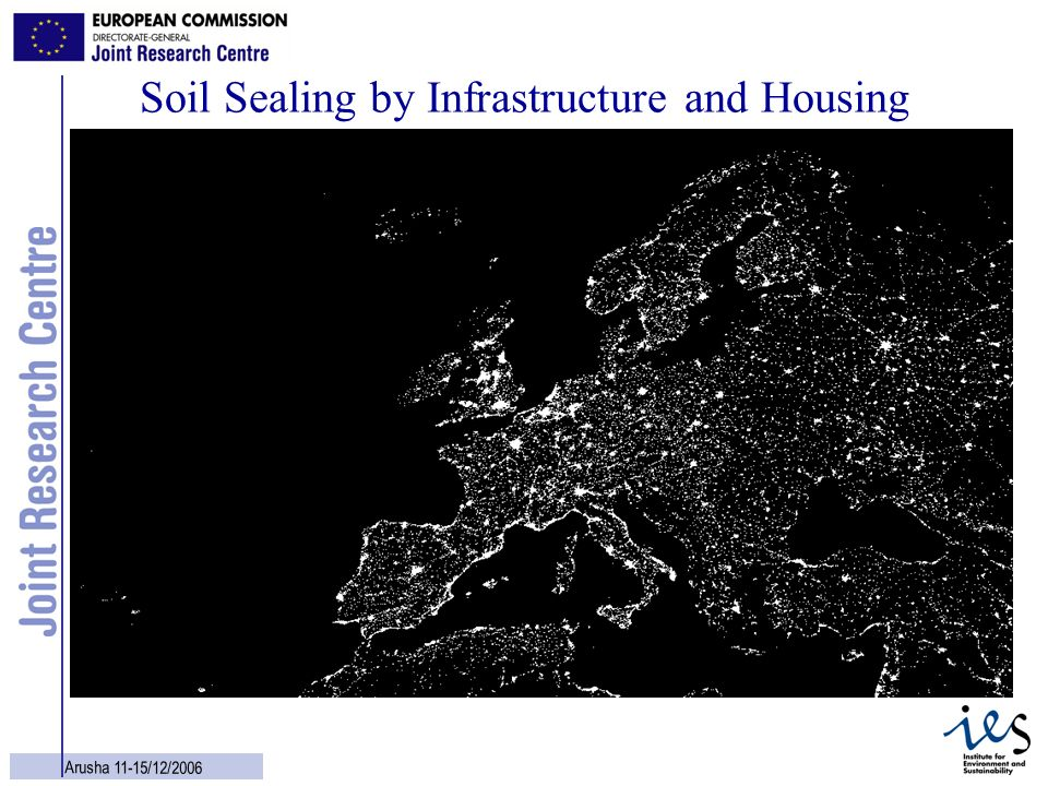 Soil Sealing by Infrastructure and Housing