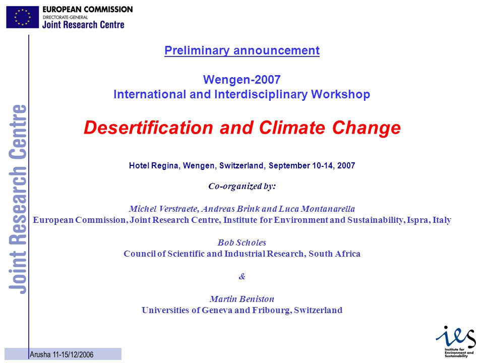 Desertification and Climate Change