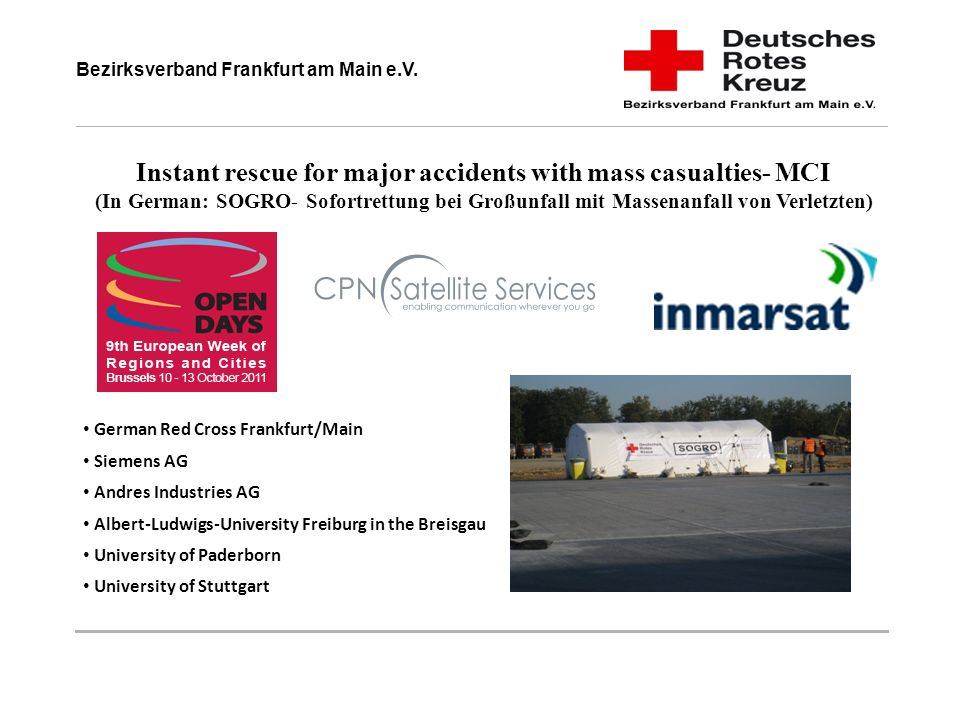 Instant rescue for major accidents with mass casualties- MCI