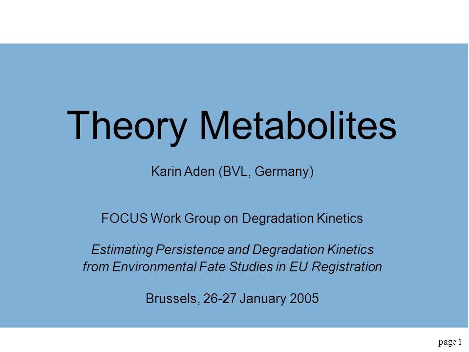 Theory Metabolites Karin Aden (BVL, Germany)