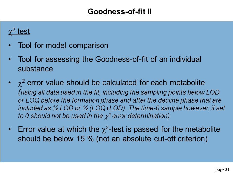 Tool for model comparison