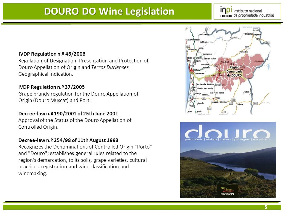 DOURO DO Wine Legislation